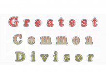 Greatest Common Divisor